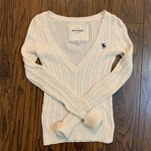 Abercombie & Fitch V Neck Wool Sweater